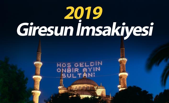 Giresun İmsakiyesi 2019- Giresun iftar saati