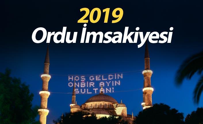 Ordu İmsakiyesi 2019- Ordu iftar saati