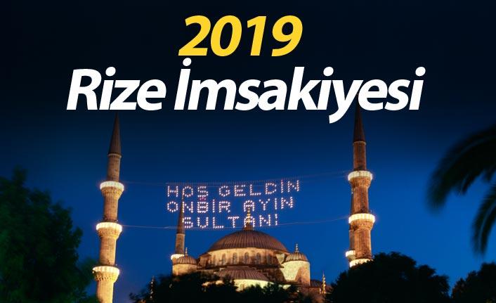 Rize İmsakiyesi 2019- Rize iftar saati