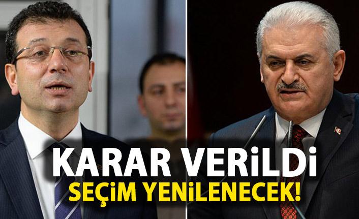 SON DAKİKA! İstanbul Seçimleri Yenilenecek!