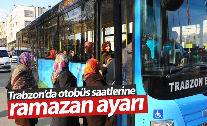 Trabzon'da otobüs saatlerine Ramazan ayarı