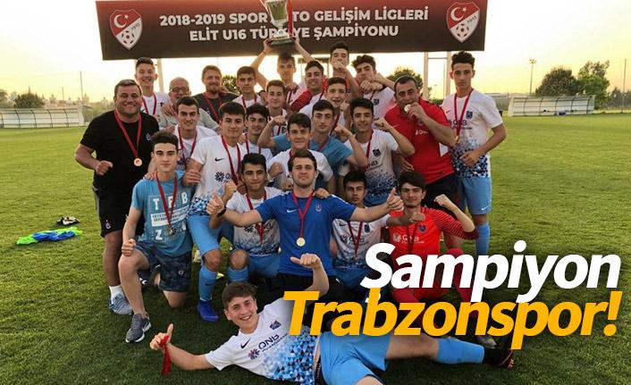Trabzonspor U16'da şampiyon