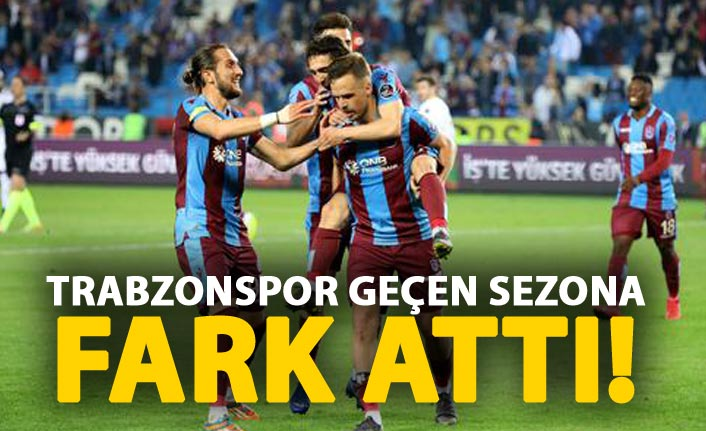 Trabzonspor geçen sezona fark attı