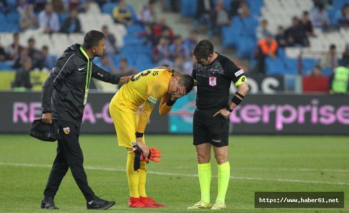 Trabzonspor maçında sahadan çıkan kalecinin sorunu belli oldu!