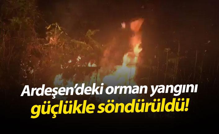 Ardeşen'deki orman yangını güçlükle söndürüldü!