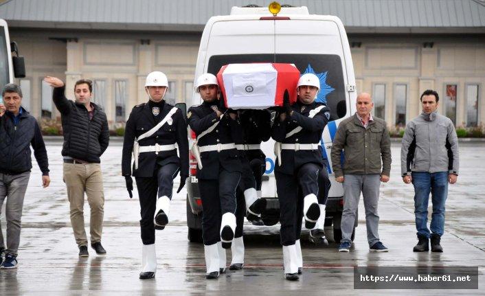 Şehit polisin cenazesi Bayburt'a gönderildi