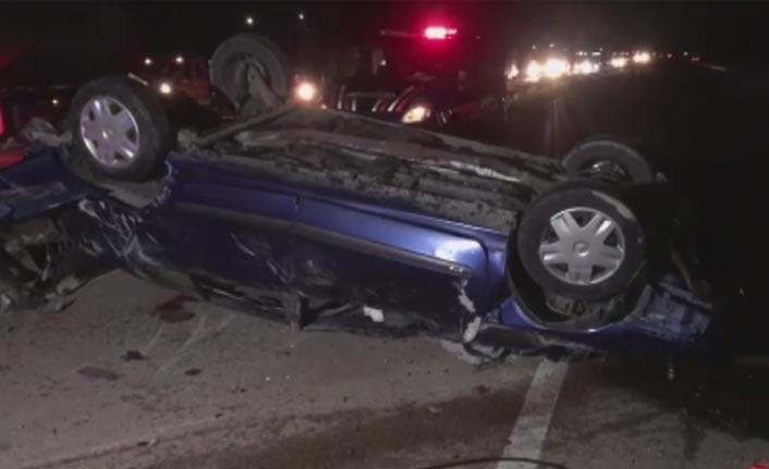 Otomobil devrildi - 1 Ölü 4 yaralı