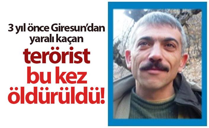 Giresun'dan 3 yıl önce yaralı kaçan terörist bu kez öldürüldü!