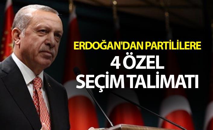 Erdoğan'dan Partililere 4 Özel İstanbul Talimatı