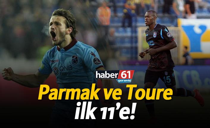 Parmak ve Toure ilk 11'e!