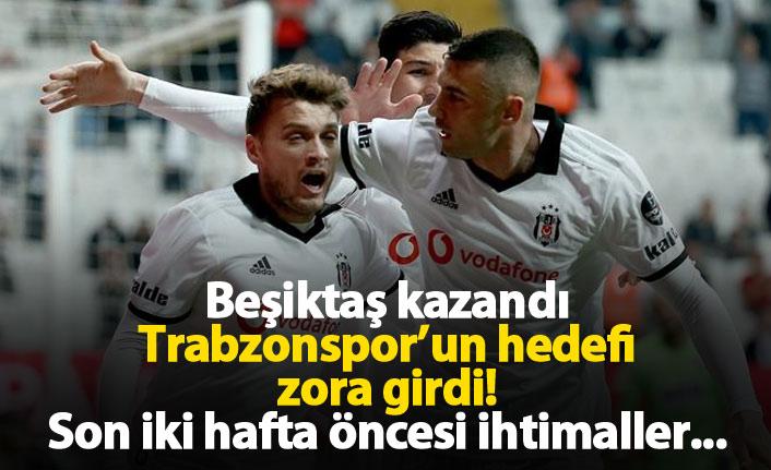 Beşiktaş kazandı, Trabzonspor'un hayali zora girdi