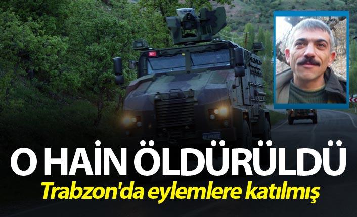O Hain öldürüldü - Trabzon'da da eylemlere katılmış