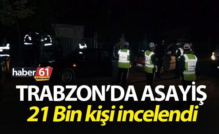 Trabzon'da Asayiş - 21 Bin kişi incelendi