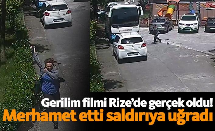 Gerilim filmi Rize'de gerçek oldu!