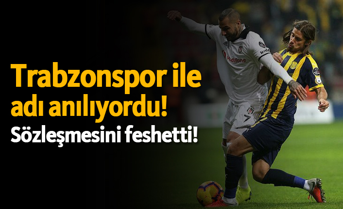 Trabzonspor ile adı anılıyordu! Sözleşmesini feshetti!