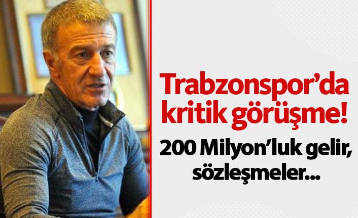 Trabzonspor'da önemli görüşme: 200 Milyonluk gelir