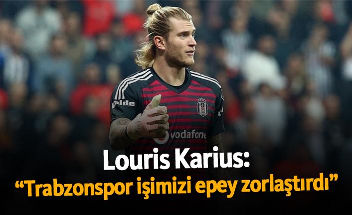 """Karius: """"Trabzonspor işimizi epey zorlaştırdı"""""""