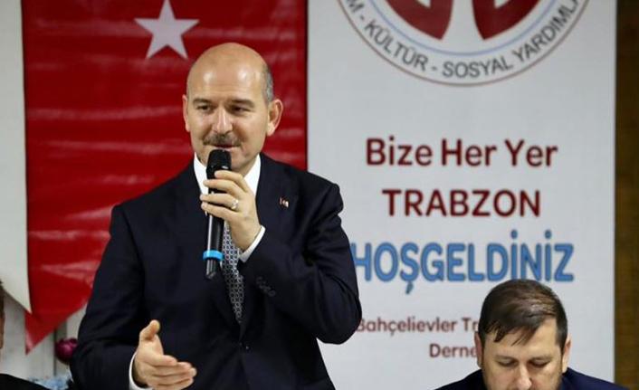 Soylu, Trabzonlularla sahurda buluştu