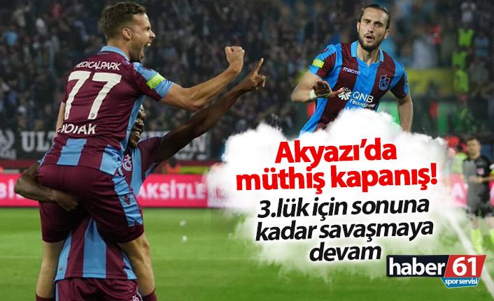 Trabzonspor Akyazı'da Beşiktaş'ı devirdi!