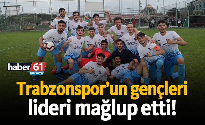 Trabzonspor'un gençleri lideri yendi!