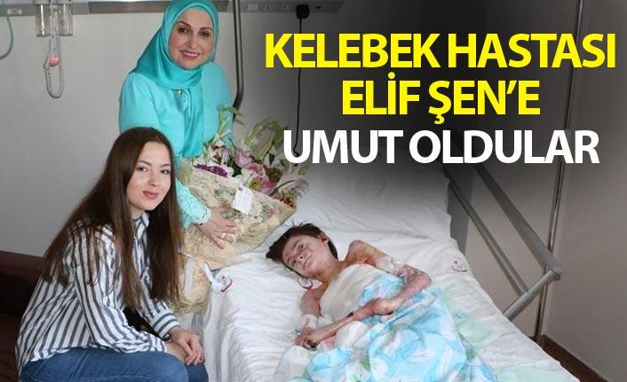 """Trabzon'da """"Kelebek hastası"""" Elif'e umut oldular"""