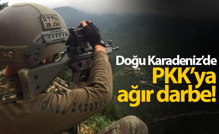 Doğu Karadeniz'de PKK'ya darbe