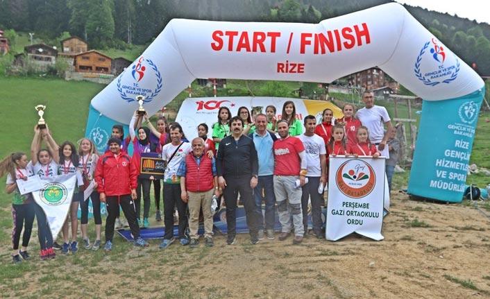 Oryantiring Türkiye Şampiyonası Ayder Yaylası'nda yapıldı