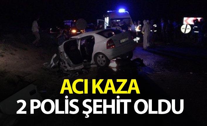 Trafik kazası: 2 polis memuru şehit oldu, 2 kişi yaralandı