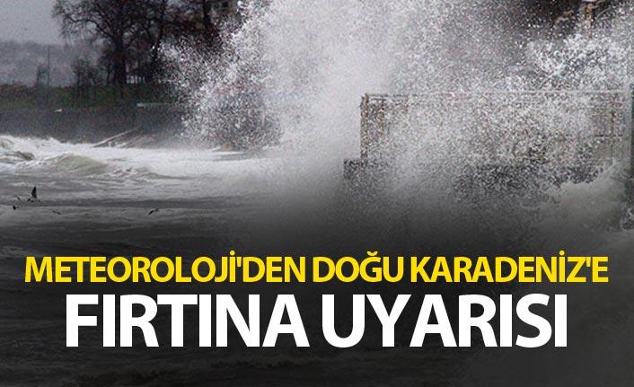 Meteoroloji'den Doğu Karadeniz'e fırtına uyarısı