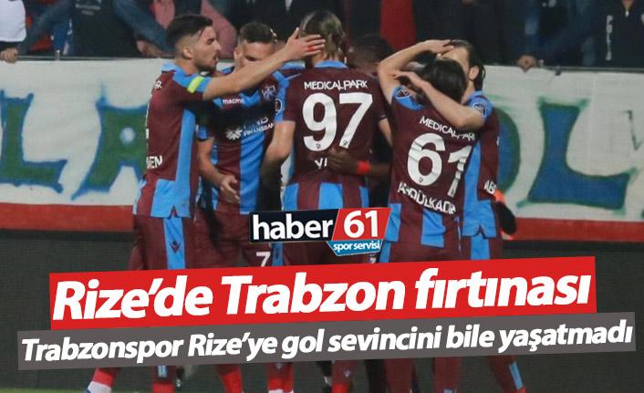 Rize'de Trabzonspor fırtınası!