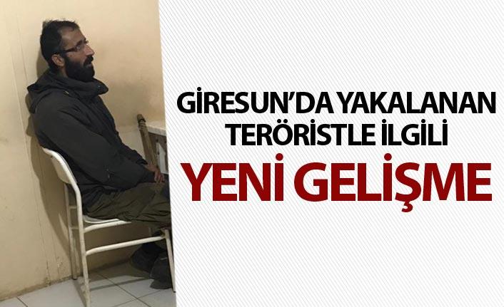 Giresun'da yakalanan teröristle ilgili yeni gelişme