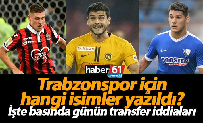 Trabzonspor transfer haberleri - 29.05.2019