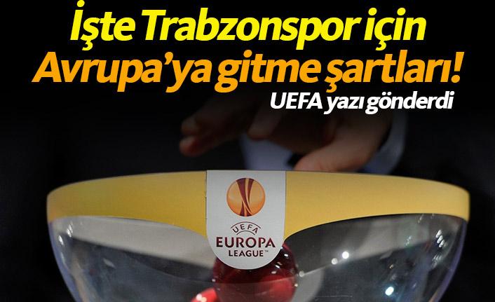İşte Trabzonspor için Avrupa'ya gitme şartları!