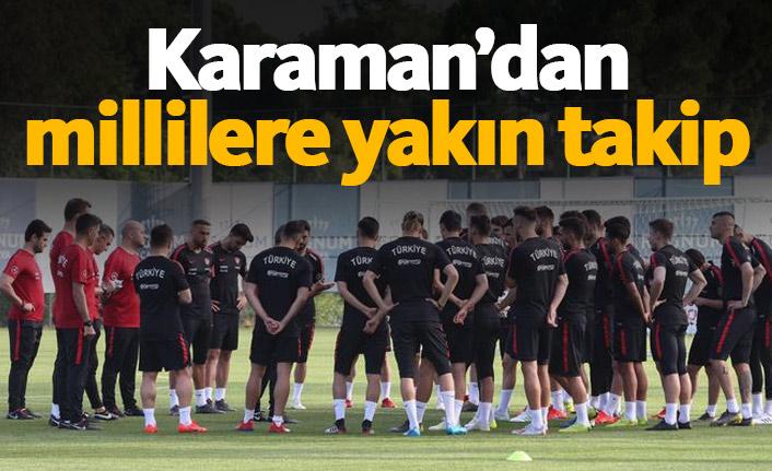Karaman'dan milli futbolculara yakın takip