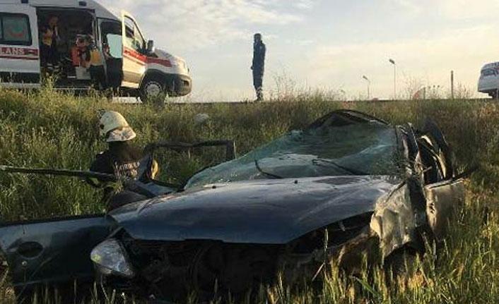 Kırıkkale'de feci kaza: 1 ölü 4 yaralı