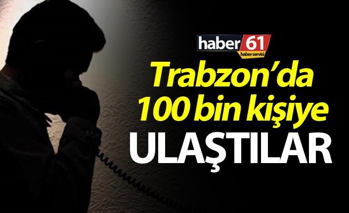 Trabzon'da 100 bin kişiye uyarı
