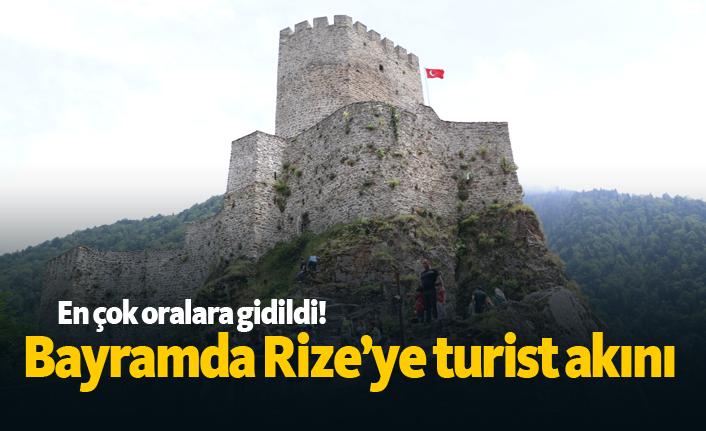 Bayramda Rize'ye turist akını