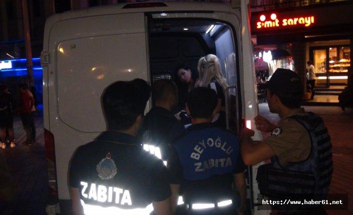 Taksim'de fuhuş operasyonu