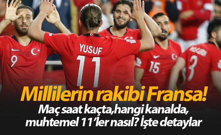 Türkiye Fransa maçı saat kaçta hangi kanalda?