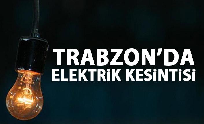 Trabzon'da elektrik kesintisi! Trabzon'da elektrikler ne zaman gelecek?