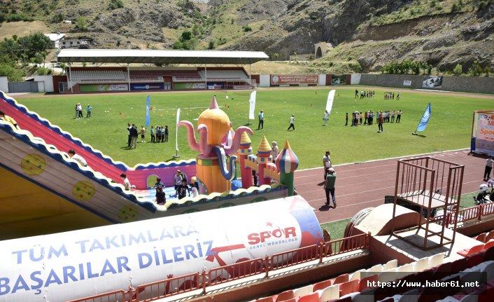 Stadyumda çocuk şenliği düzenlendi!