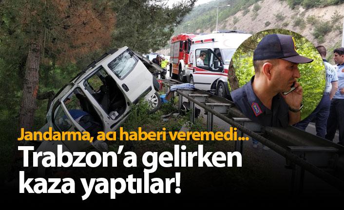 Trabzon'a gelirken kaza yaptılar: 1 Ölü 1 Yaralı