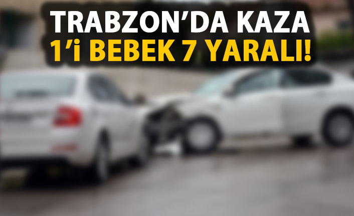 Trabzon'da kaza! Yaralılar var!