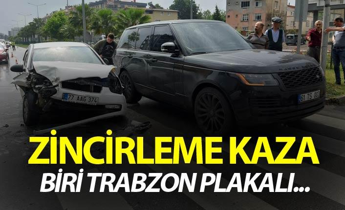 Zincirleme kaza - Biri Trabzon plakalı...