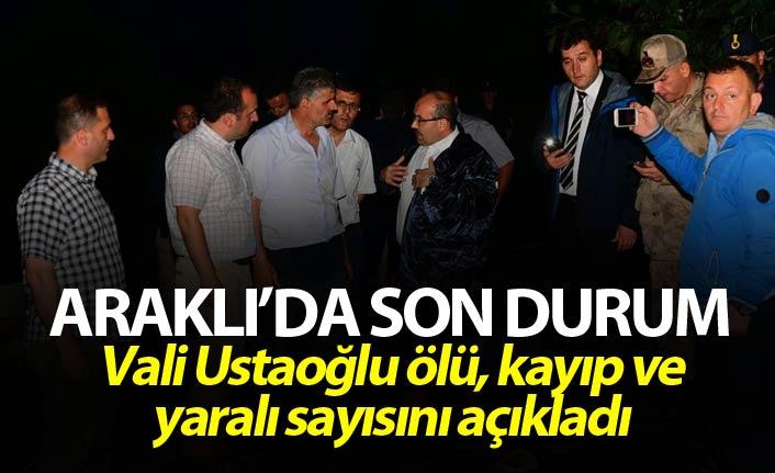 Trabzon Valisi Araklı'daki son durumu açıkladı - İşte ölü sayısı