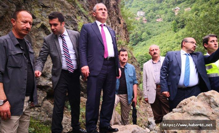 Bakan Turan Araklı'da felaket bölgesinde