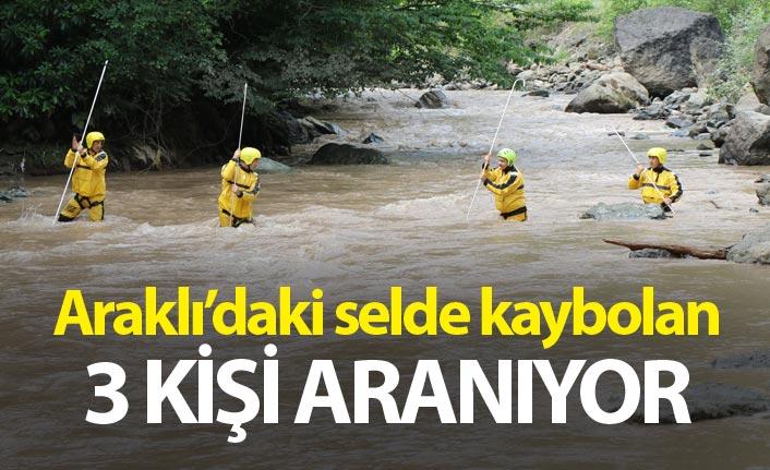 Araklı'da selde kaybolan 3 kişi aranıyor