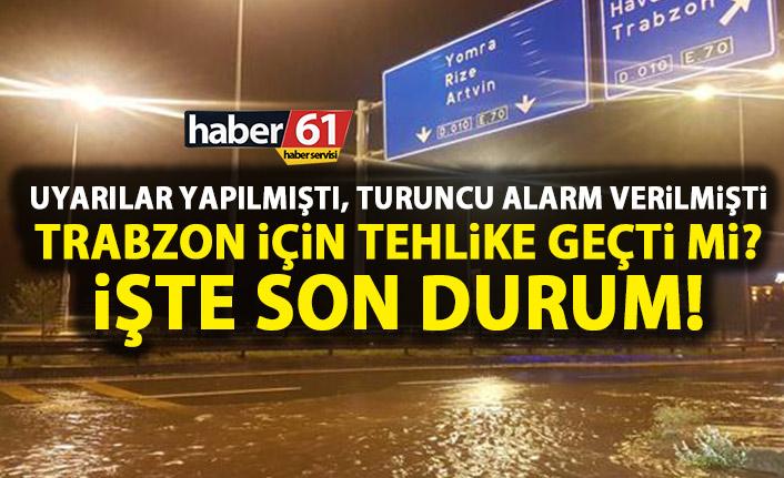 Trabzon için yağış açıklaması! Tehlike geçti mi?