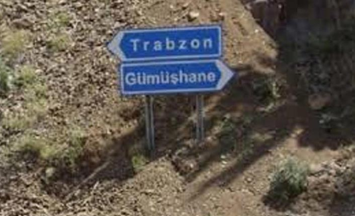 Trabzon Gümüşhane yolu için uyarı