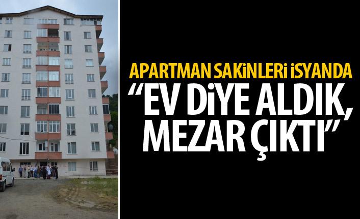 Apartman sahipleri isyan etti: Ev diye aldık mezar çıktı!